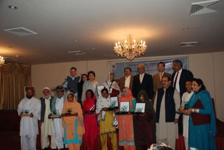 Group photo of the winners and organizers