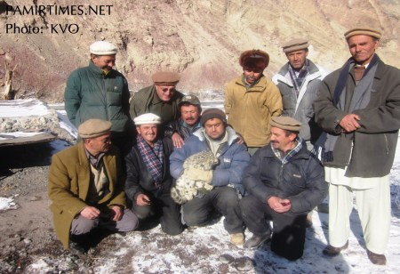 KVO officials and local people with the cub