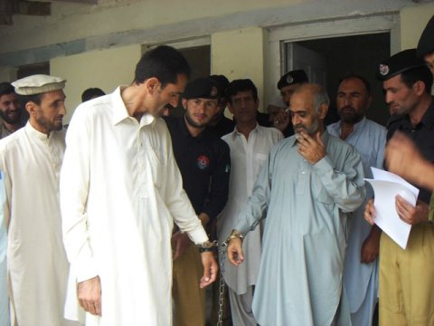 Chitral: The PESCO officials were handcuff and taken away by the Police on Court orders
