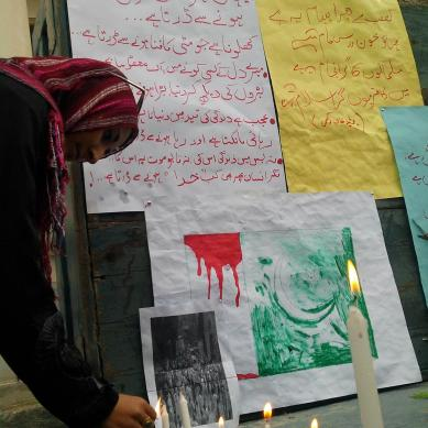 Gilgit: Protest demonstrations against attack on Church, candle light vigils held