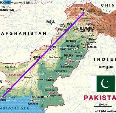 Proposed Kashgar-Gwadar trade corridor