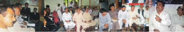 Leaders of Gilgit chapter of MQM during media briefing in Gilgit
