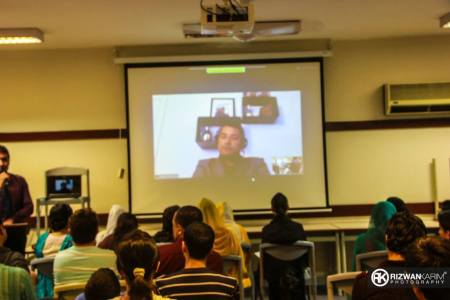 Video conference in progress at AKU-IED, Karachi