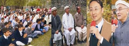 China's ambassador addressing a gathering in Hunza Valley