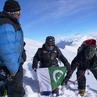 Eight years old Mohsin climbs 6050meters high Minglik Sar in Shimshal Valley