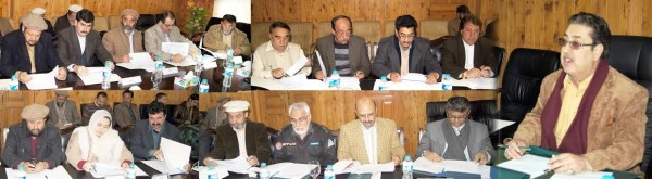 Gilgit: Cabinet meeting in process