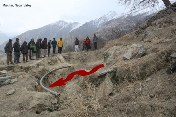 There are also reports about widening of the cracks and downward movement of the slopes