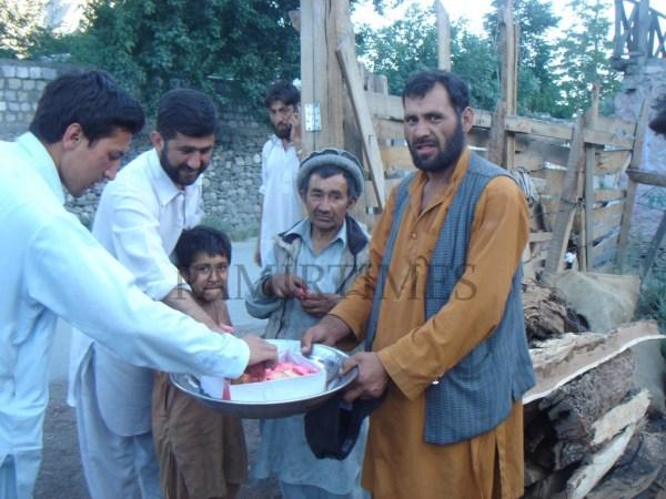 Fans of Musharraf celebrating in Chtral
