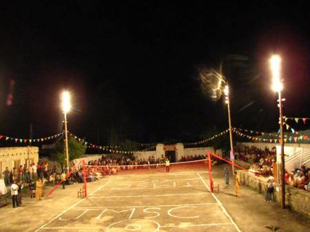 Moorkhun: The Independence Day Floodlight Volleyball Tournament has become a major sports event of the region. File Photo