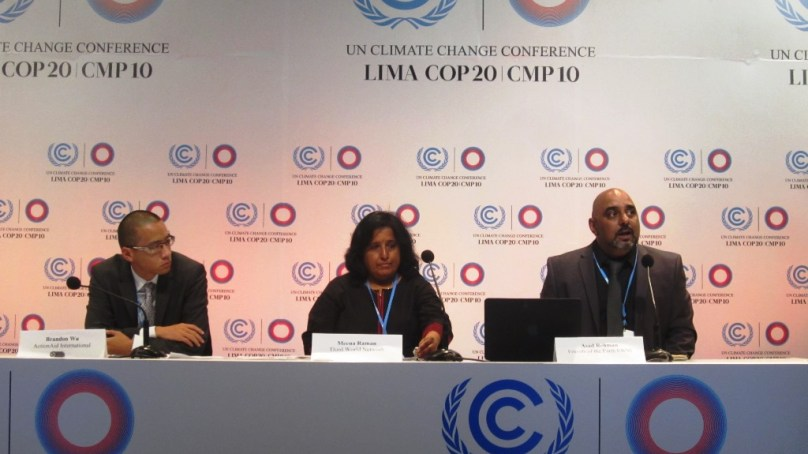 Civil society members in Lima call for increased focus on climate action