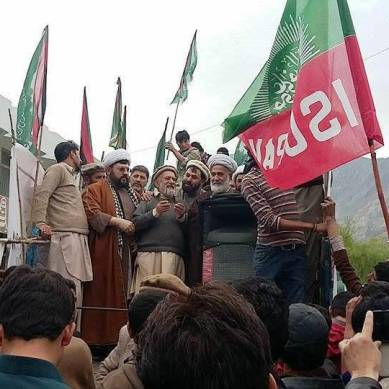 In Gilgit protesters condemn coalition strikes against Yemen
