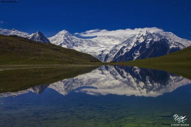 VIvid reflections of the Miar and Spantik Peak