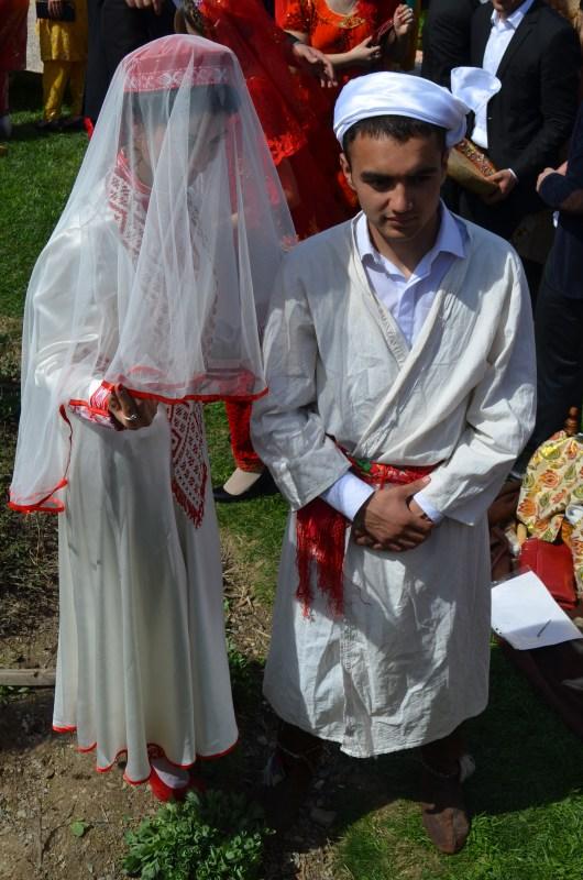 Traditional bridge and groom