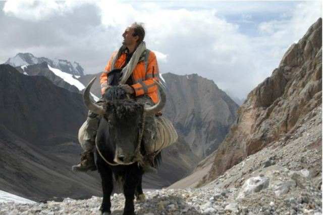 Alam Jan on a yak