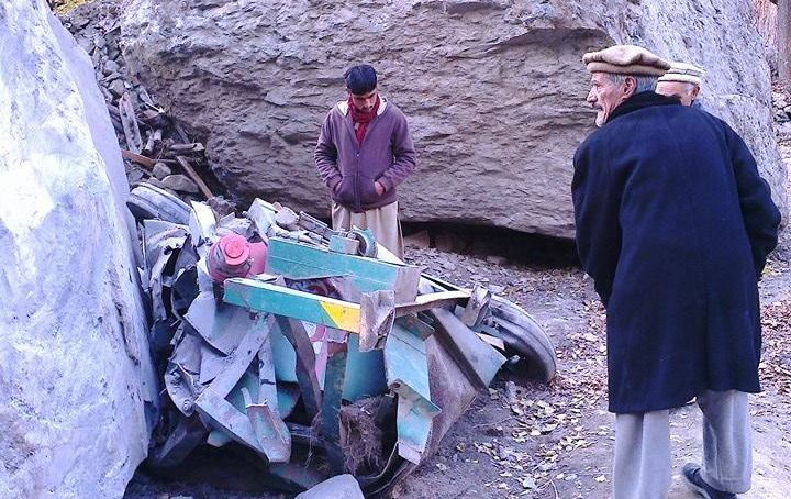 Pictorial – Continuous rockfall causes large scale destruction in Yasin Valley of Ghizar District