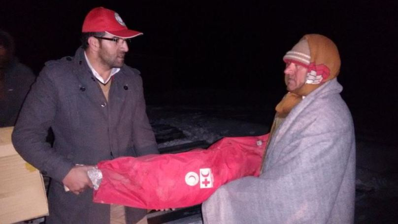 PRCS supporting earthquake affected people in Darel and Phandar