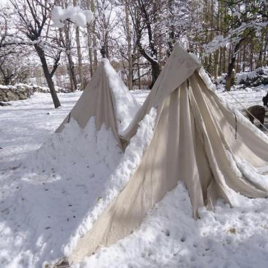 Seven photographs depicting the sufferings of the earthquake victims due to snowfall in Chitral and Ghizar (GB)