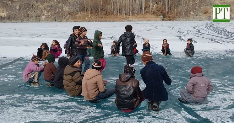 [Photo Feature] Winter recreation on frozen Khalti Lake in Gupis, Ghizer