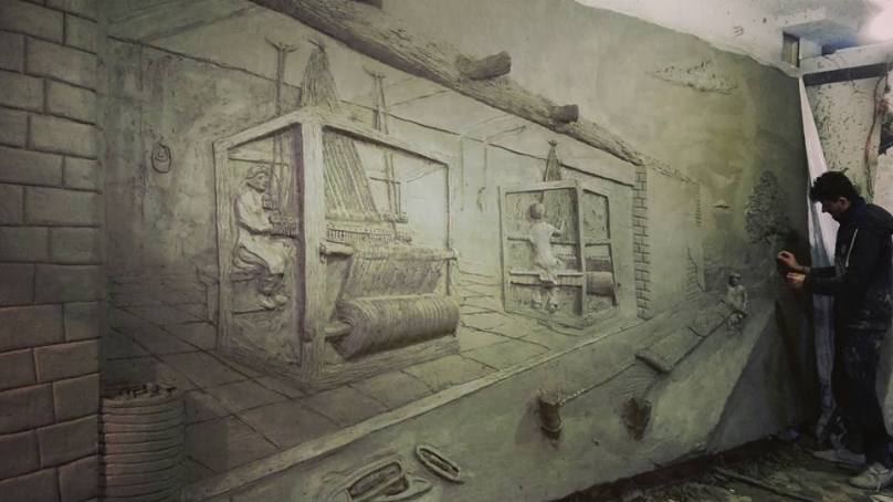 Artists from Giglit-Baltistan create Pakistan's largest relief sculpture