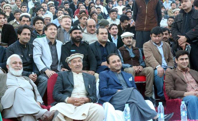 CM Hafeez and senior minister Haji Taban alogn with others