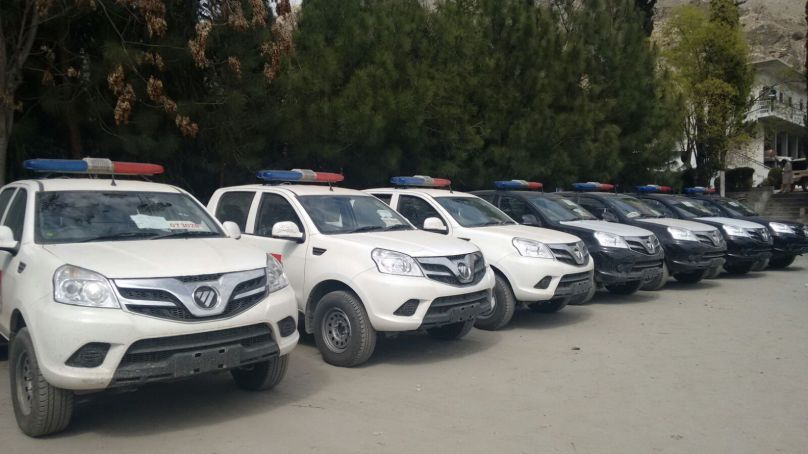 25 vehicles donated by Chinese govt reach Central Police Office in Gilgit