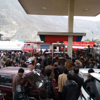 Fuel shortage in Gilgit-Baltistan