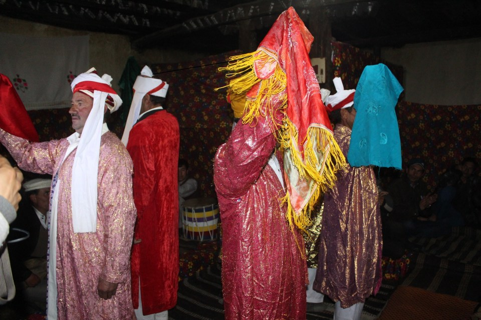 "Traditional dance performance called "" Karwan"""