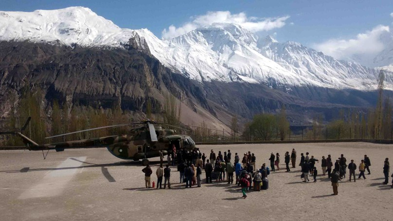 Stranded tourists and patients evacuated from Hunza and Chilas