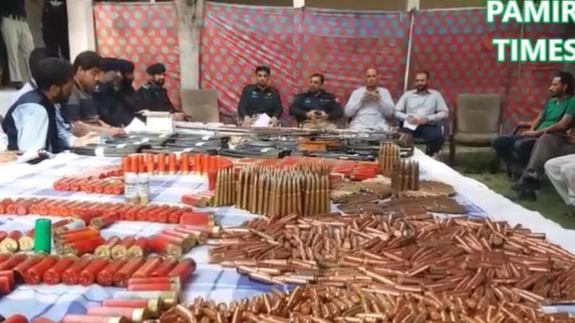 Terror bid foiled: Police recover huge cache of weapons, arrest two from Jaglote area of Gilgit