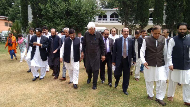 Senate CPEC Committee members visit Yadgar-e-Shuhada in Gilgit