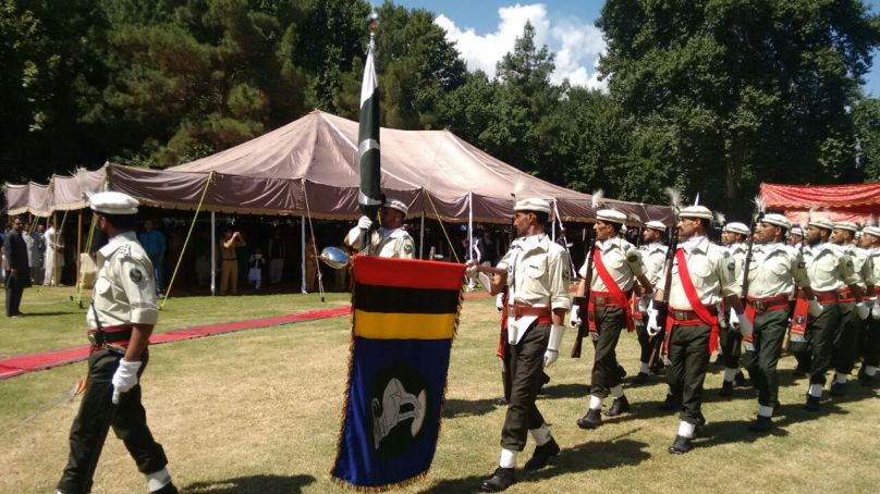 Flag hoisting ceremony held in Gilgit on Independence Day