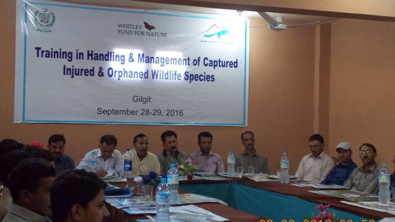 Wildlife field staff and SLF workers trained in handling of injured, orphaned wild animals