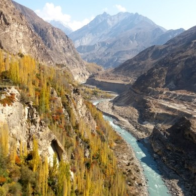 Mesmerizing colors of autumn in Altit Valley, Hunza