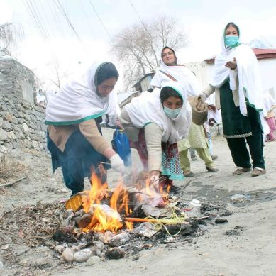 Women volunteers collect garbage and keep Hunza clean