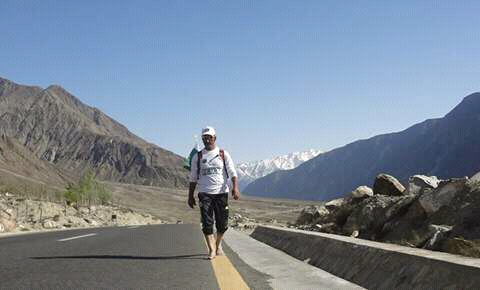 Qudrat Ali's daring barefoot walk from Gilgit to Shimshal for peace and Pakistan
