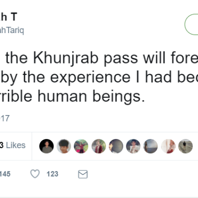 """Tourist says she was """"seriously harassed"""" by Lahori boys at Khunjerab Pass"""
