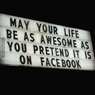 We Live In Two Worlds; Facebook and Earth