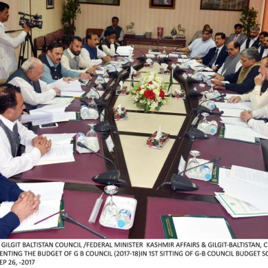Gilgit-Baltistan Council's 2bn rupees budget presented