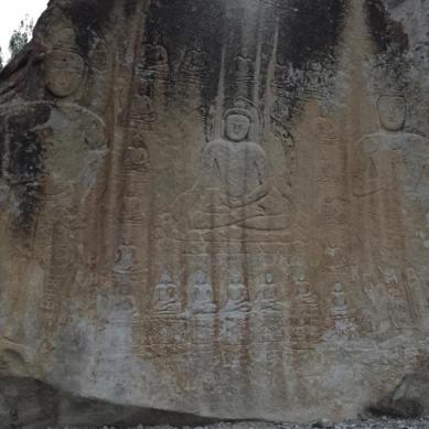 9th century Manthal Buddha rock , Skardu
