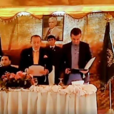 Aurangzeb Advocate took oath as Minister Law
