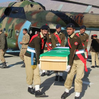 Funeral of 3 martyred army Jawans offered in Gilgit
