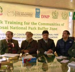 EvK2CNR's conducts Improved Livestock Rearing Training for Farmers in Astore