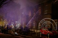 Fire crews tackiling fire in the Christ Apostolic Church, Seven Sisters, London N15 Nobody hurt. 21st November 2015