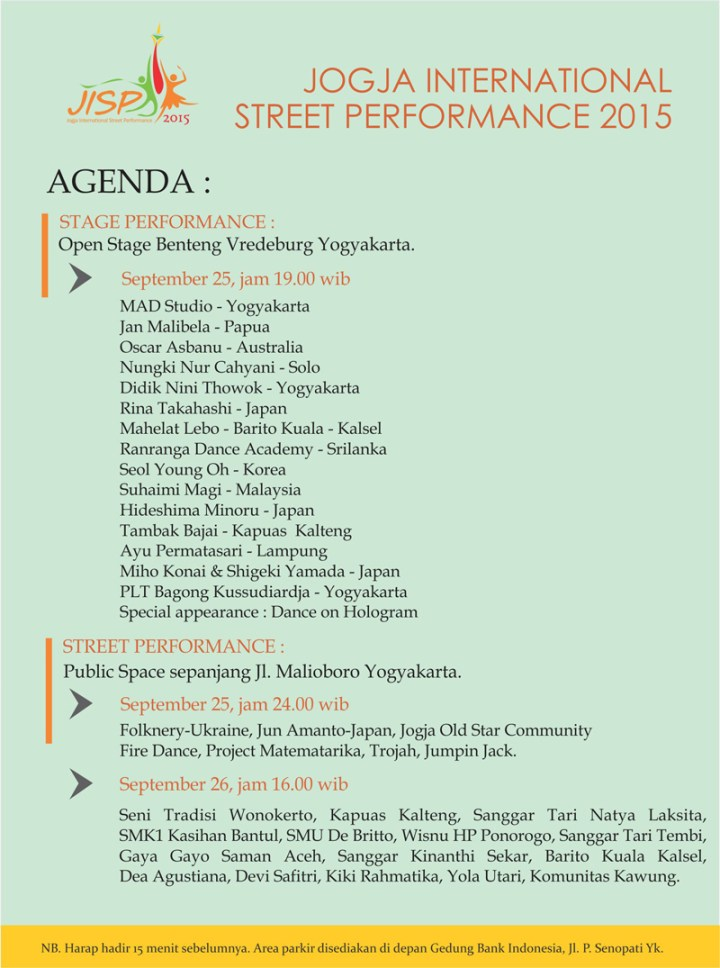 Agenda JISP 2015