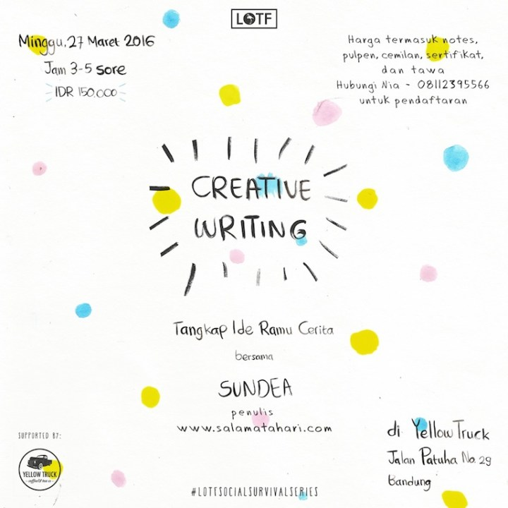 Poster IG Workshop Creative Writing 2 Sundea