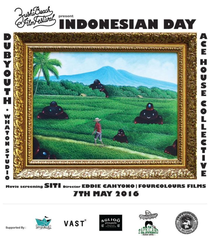 Flyer Indonesian Day di Zushi Beach Film Festival 2016