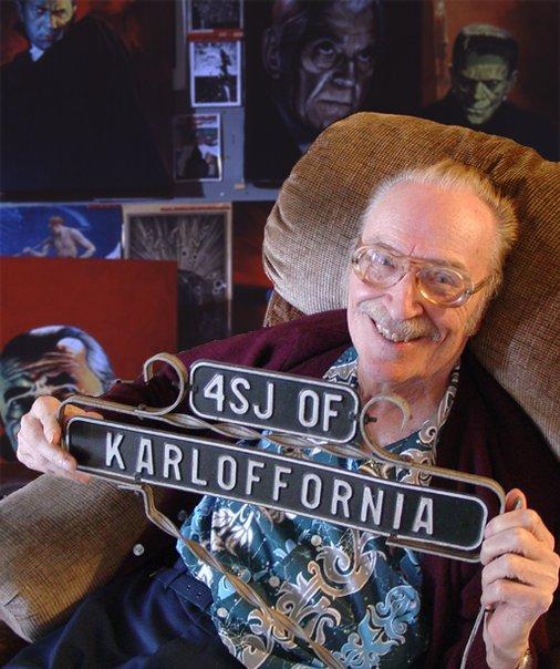 Forrest J Ackerman, aka 4SJ of Karloffornia, the Ackermonster