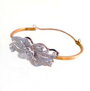 bracelet_diamond with gold bangle