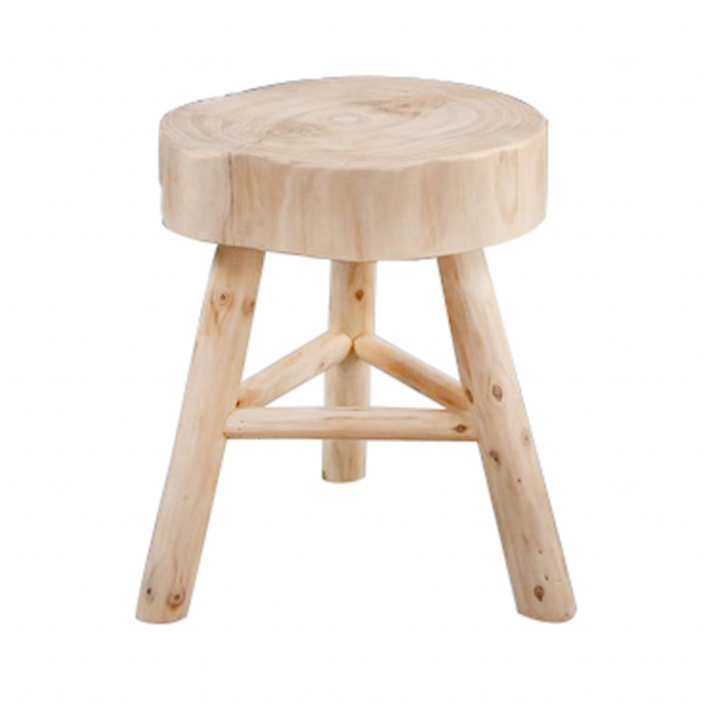 Samboa Wooden Stool Accent Table