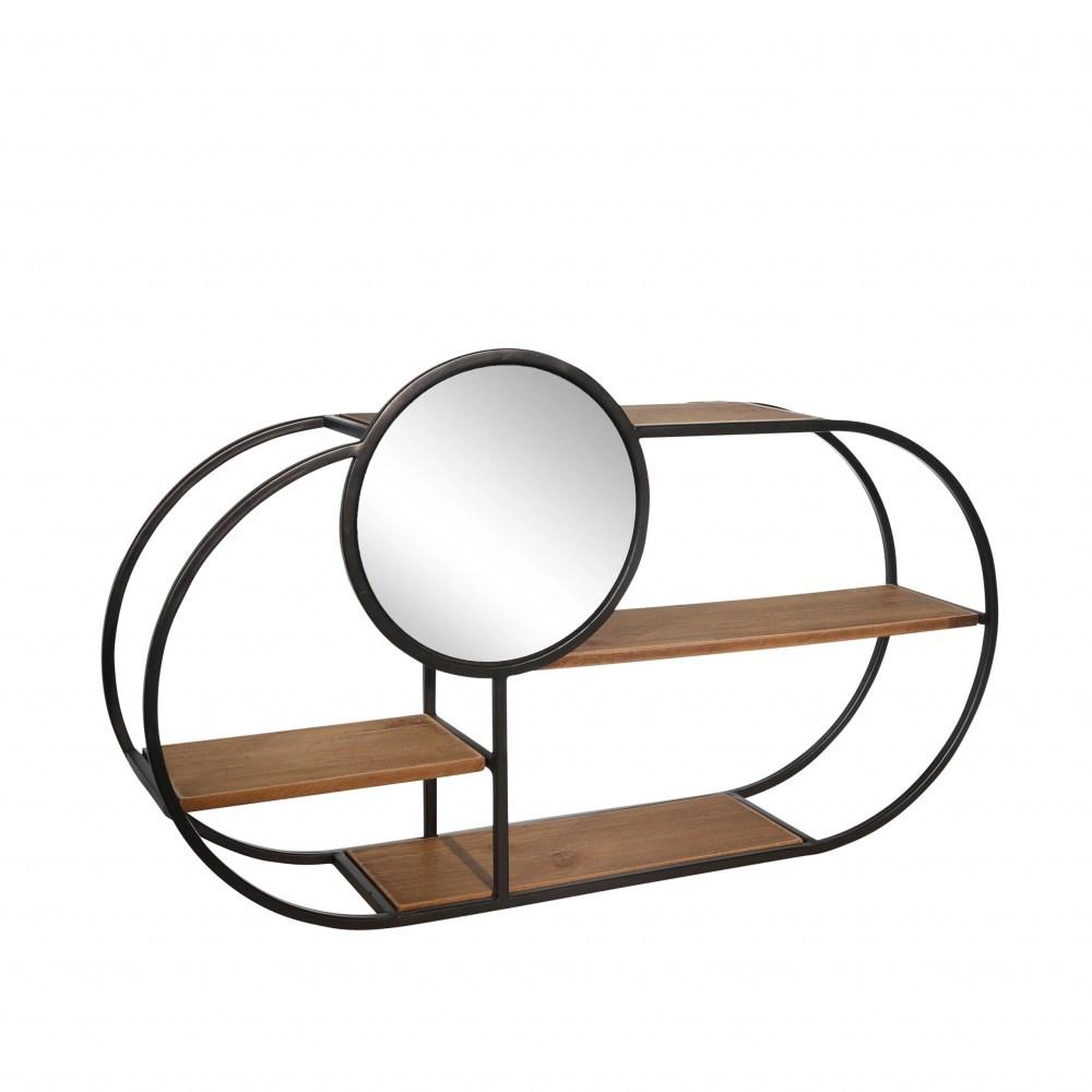 Valencia Wall Shelf with Mirror